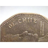 Moneda De Chile 50 Pesos Año 2009 Con Error Chiie