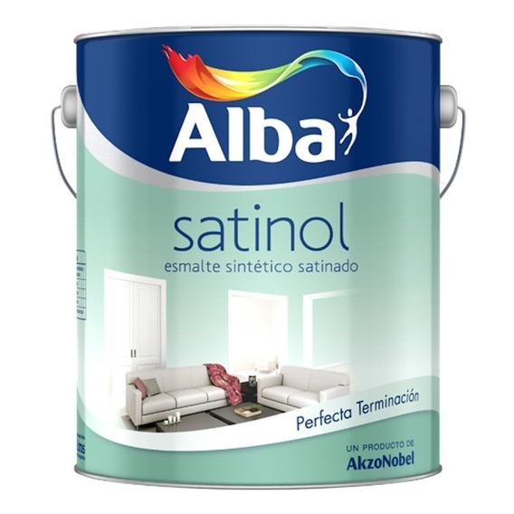 Esmalte Sintetico Satinado Satinol Alba X 1lt Pintumm