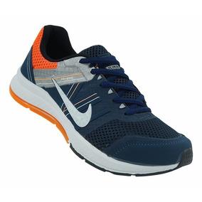 Tênis Nike Fry Wire Azul Marinho E Laranja