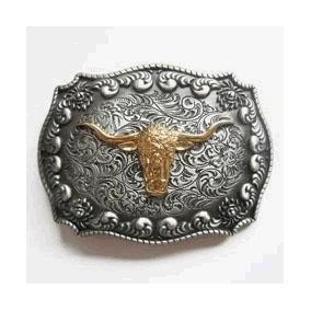 Hebilla De Cinturón Occidental De Oro
