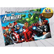 Papel De Arroz Comestível Vingadores Avengers Desenho A4