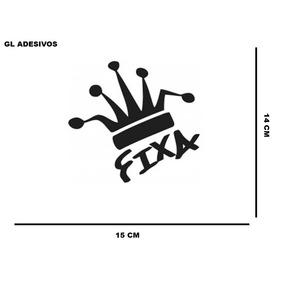 Adesivo Coroa Fixa Personalizados Carros Motos Rebaixados