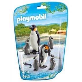 Retromex Playmobil 6649 Familia D Pinguinos Animal Zoologico