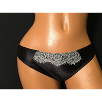 Lenceria Victorias Secret Panty Bikini Negro Y Blanco S324