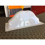 Casco Para Taxis Acrilicos, De 0,19x0,45x3mm En Color Blanco