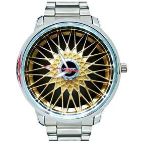 Relógio Roda Bbs Dourado Borda Polida Bateria Original Sony