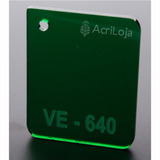 Placa De Acrilico Verde 200cm X 200cm Esp 3mm Chapa Acrilico