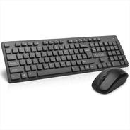 Combo Inalámbrico Delux: Teclado Slim Multimedia + Mouse