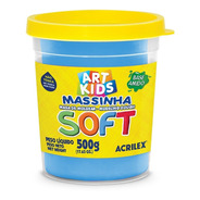 Massa P/modelar 500g Soft Azul 109 Acrilex Po 1 Un