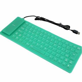 Teclado Silicone Flexível Usb Resistente Aguá P/ Pc Notebook