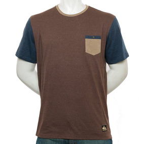 Remera Baysick Pocket Marron Quiksilver Fluid Tienda Oficial
