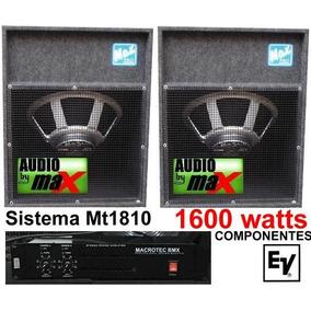 Bafles X 2 Sublow 1810 Y Potencia 1600watts Maxpro C/ Ev