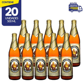 Cerveza Importada Franziskaner Weissbier, 20 Botellas 500ml