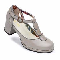 Sapato Boneca Estilo Retro Em Couro Lm 5803 (forma Grande)