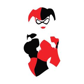 Adesivo Batman Coringa Joker Harley Quinn - 12x6,5