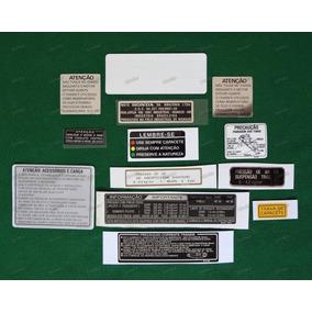 Adesivos Advertência Honda Cbx 750 89 E 90 Originais