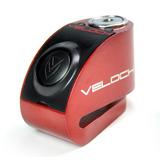 Trava Disco Moto Com Alarme E Led Velock + Lembrete