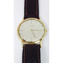 Reloj Elgin Vintage Para Caballero Caja De Oro Macizo 18k