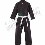 Traje De Karate Negro Desde 1.10 Mts A 1,80 Mts