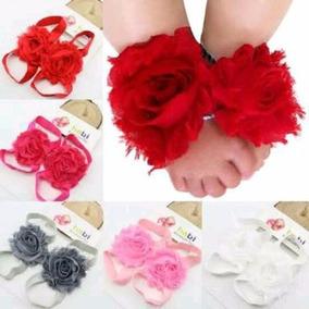 Pies Descalzos De Colores Para Bebé Niña Con Tiara