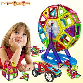 Brinquedos Educativo Ímã Mágico Bloco Construção 120 Pc