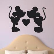 Adesivo De Parede Decorativo Mickey Minnie Cabeceira Disney