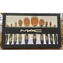 Pincel Maquiagem Linha Profissional Kit C/ 10 Replica Da Mac