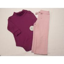 Conjunto Pañalero Y Pantalon Pants Para Niña 9/12 Meses Hm4