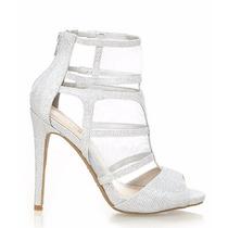 Zapatos Sandalias Plateadas Importadas Usa