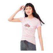 Camiseta Feminina Aeropostale Arch Roses Original Orlando