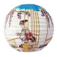 Kit 3 Luminária Japonesa Branca Gueixas Oriental Festa  40cm