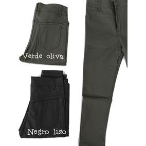 Pantalon Chupin Tipo Vestir Calza Engomado Cuero Elastizado