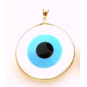 Pingente Olho Grego Em Ouro 18k Pi20/a