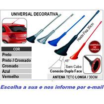 Antena Decorativa Teto Carro Gol Palio Corsa Celta Uno