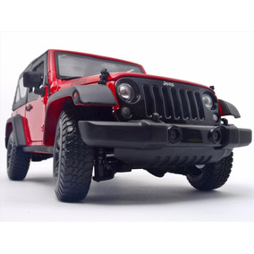 1:18 Jeep Wrangler Metalico Nuevo Color Rojo Escala
