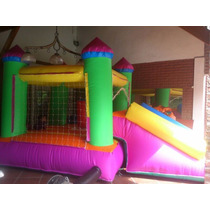 Castillo Inflable Con Tobogan Desmontable Y Turbina