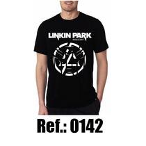 Camisa Linkin Park Preta 100% Algodão Rock Blusa Camiseta