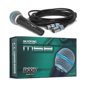 Excelente Micrófono Profesional Dinámico Con Cable Moon M58