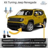 Soleiras Jeep Renegade + Lampadas Super Brancas Kit Tuning