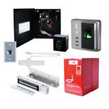 Kit Control De Acceso Por Huella /biometrico + Bobina Gratis