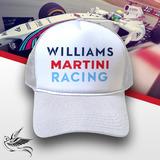 3d4c00545af9d Boné Williams Martini Racing All White Trucker Frete Grátis