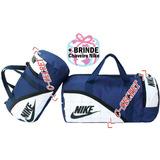 Bolsa Nike Grande + Pequena Academia Fitness Viagem Colorida