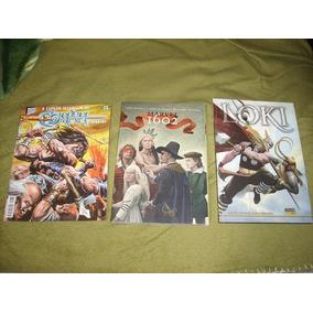 Lote 3 Hq Dá Marvel, Conan N171,loki 1 A 4, Marvel1602 1 A 8