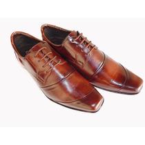 Sapato Social Masculino Em Couro,cadarço Promoção Imperdível