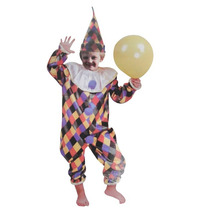 02 Fantasias Infantil Palhaço Com Chapeu Festa Carnaval