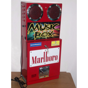 Maquina Despachadora De Cigarros Con Mini Rockola Integrada