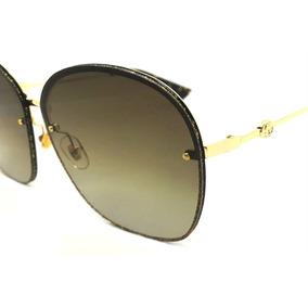 Oculos De Sol Feminino Gg228s Degradê Reflexive Redondo