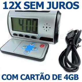 b57b1e48fcb Mini Relogio De Mesa Espião 4gb Sc 007 Dvr Clock - Câmera de ...