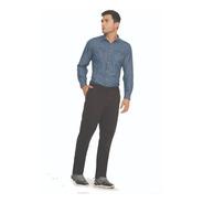 Pantalón Hombre En Dril Negro Bota Recta Cromo Jeans