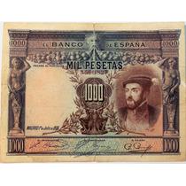 Billete De España - 1000 Pesetas - 1925 - En Mendoza